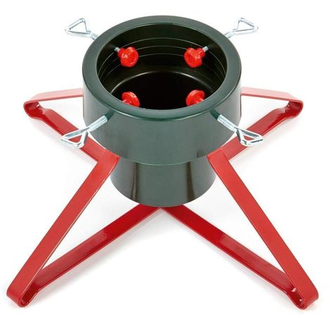 Heavy Duty Christmas Tree Stand.Premier Heavy Duty Metal Real Christmas Tree Stand Red Or Green 46 And 57cm