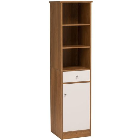 Premier High Gloss Furniture Floor Standing Oak Effect Cabinet