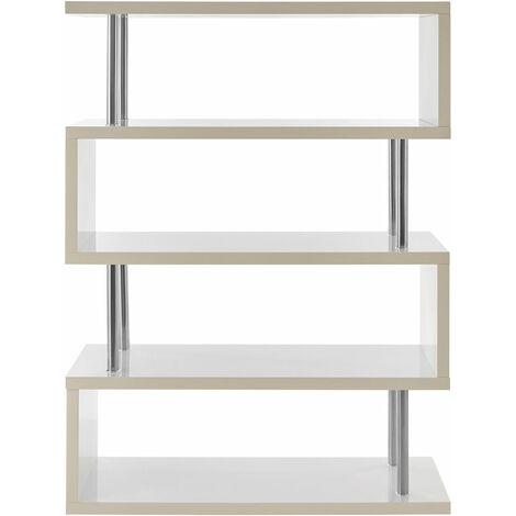 "main image of ""Premier Housewares 4 Tier MDF/Shelving Unit White Gloss Shelving Units For Storage Racking Storage Shelving Unit Shelf Rack Shelf Unit 120 X 40 X 160"""
