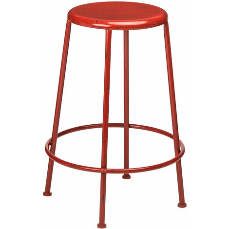 "main image of ""Premier Housewares Artisan Red Metal Bar Stool"""