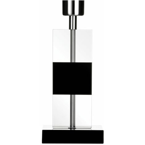 """main image of """"Premier Housewares Black Crystal Lamp Base Only Contemporary Bases With Clear Glass For Bedroom / Living Room / Hallways / Lamp Base For Table 12 x 32 x 12"""""""