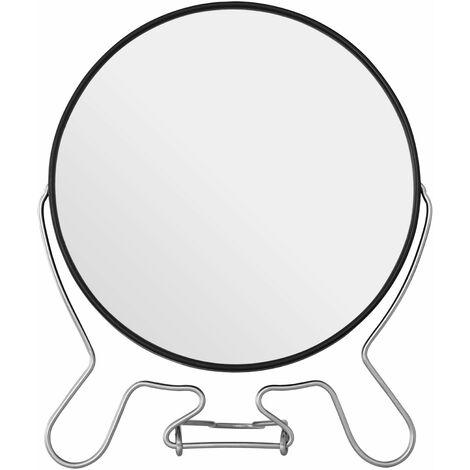 Premier Housewares Black Metal Large Shaving Mirror