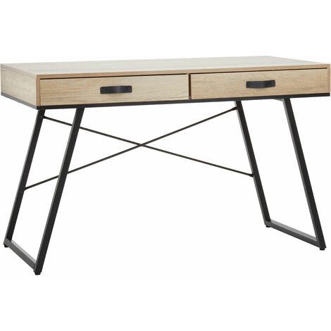 Premier Housewares Bradbury Dark Oak Veneer Desk