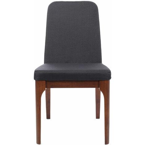 Premier Housewares Charcoal Woven Mesh Dining Chair