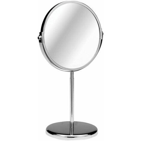 Premier Housewares Chrome Standing Shaving Mirror