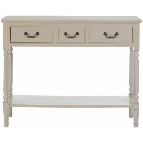 """main image of """"Premier Housewares Console Table Hallway Narrow Console Table Oak Hallway Table Vintage Console Tables For Hallway 3 Drawers Slim Stable Hall Table 81 x 106 x 36"""""""