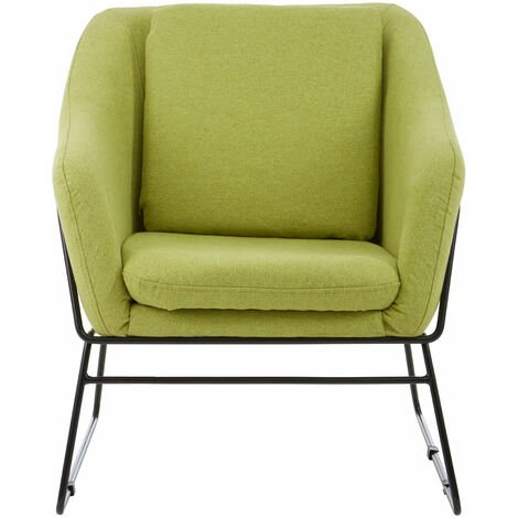 """main image of """"Premier Housewares Desk Chairs Green Bedroom Chair Stainless Steel Stylish Lounge Chair / Modern Chairs For Bedroom 54 x 76 x 66"""""""