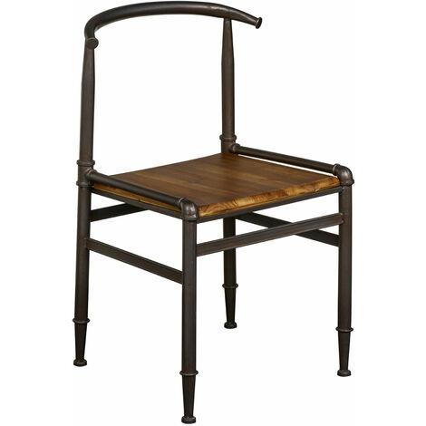 "main image of ""Premier Housewares Foundry Fir Wood Metal Chair"""