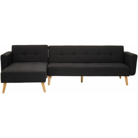"""main image of """"Premier Housewares Hansa Large Black Velvet Sofa"""""""