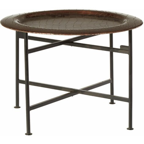 Premier Housewares Hege Small Copper and Black Side Table