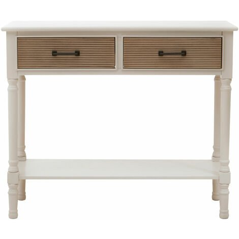Premier Housewares Heritage 2 Drawers Pearl White Console Table