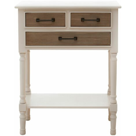 Premier Housewares Heritage 3 Drawers Pearl White Console Table