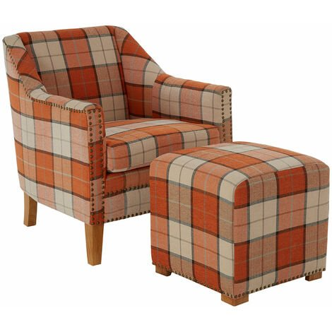 """main image of """"Premier Housewares Kids Chair Wooden Vanity Arm Chair Retro Design Orange Chairs For Bedroom / Lounge For Reading Fabric Detail Desk Chairs 83 x 73 x 75"""""""