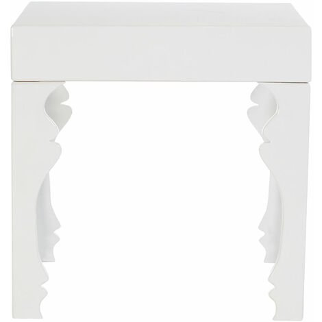 """main image of """"Premier Housewares Luis White High Gloss Side Table"""""""