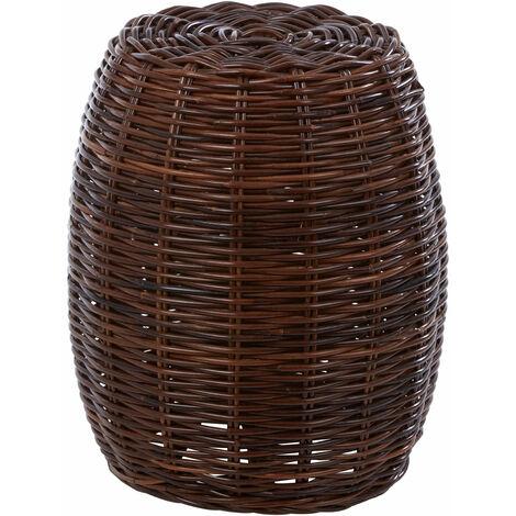 """main image of """"Premier Housewares Maka Natural Brown Rattan Stool"""""""