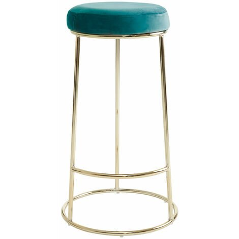 """main image of """"Premier Housewares Manhattan Green Velvet Tall Bar Stool"""""""