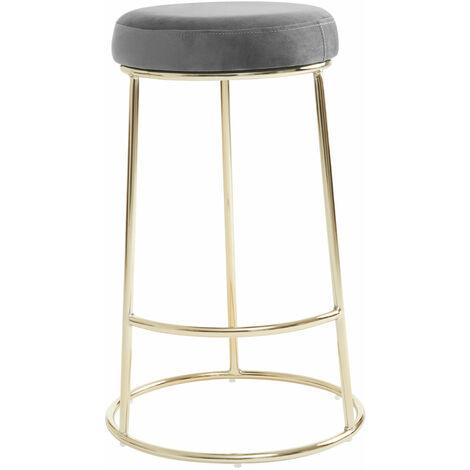 """main image of """"Premier Housewares Manhattan Grey Velvet Bar Stool"""""""