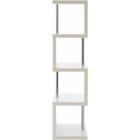 "main image of ""Premier Housewares Maze 4 Tier White Gloss Shelf Unit"""