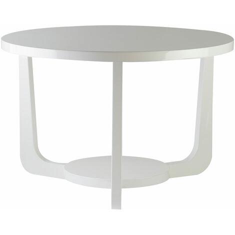 "main image of ""Premier Housewares Moritz White High Gloss Side Table"""