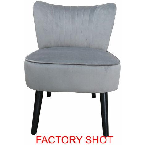 Premier Housewares Regents Park Grey Velvet Chair