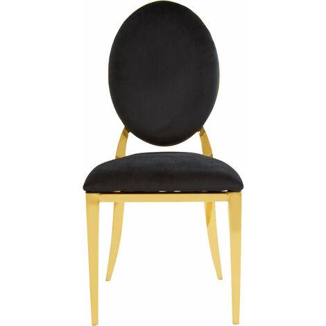 Premier Housewares Sarita Stackable Gold Finish Dining Chair