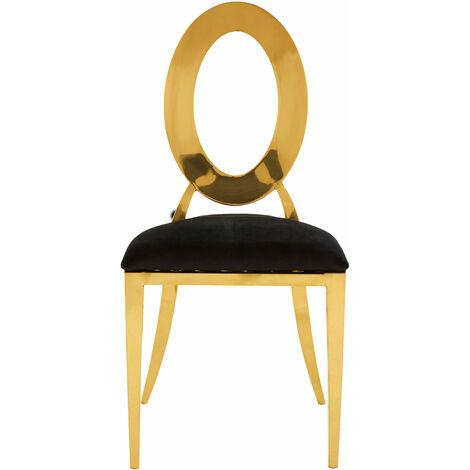 Premier Housewares Sarita Stackable Gold Frame Dining Chair
