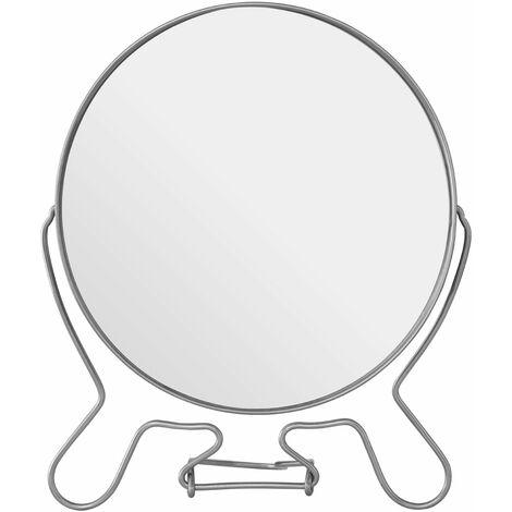 Premier Housewares Silver Effect 2 Sided Large Shaving Mirror
