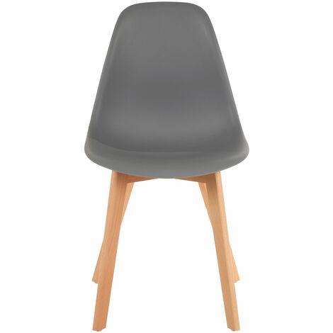 Premier Housewares Stockholm Grey Chair with Wood Legs