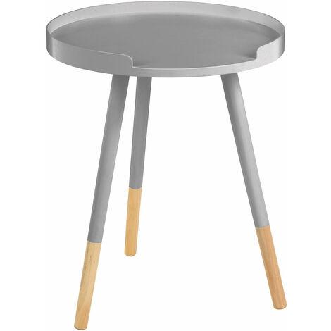 Premier Housewares Viborg Grey Round Side Table