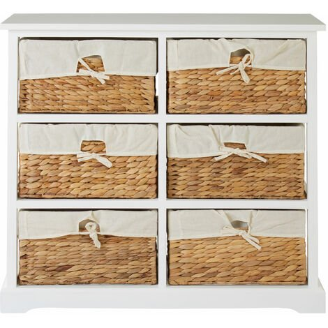 """main image of """"Premier Housewares White Chest of Drawers Chester Drawers For Bedroom Acacia Wood Drawers Storage Bedroom TC Material Chest Drawers W83 x D33 x H72cm"""""""