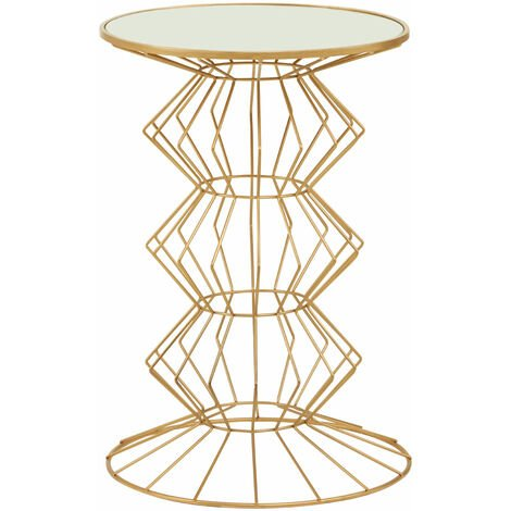 Premier Housewares Yaxi Gold Finish Frame Table