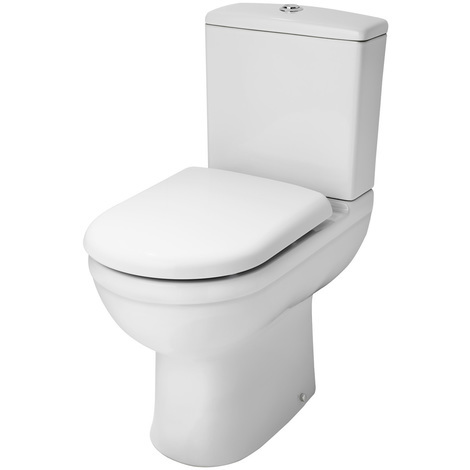 Nuie Ivo Comfort Height Close Coupled Toilet Pan and Cistern - NCS251