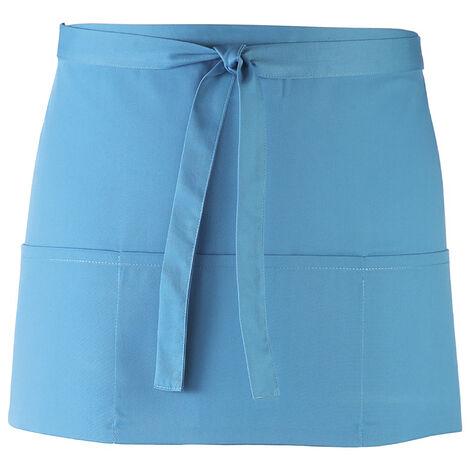 Premier Ladies/Womens Colours 3 Pocket Apron / Workwear (Pack of 2)
