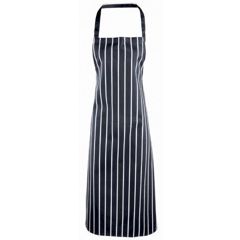 Premier Ladies/Womens Stripe Apron / Workwear (Butchers Style) (Pack of 2)