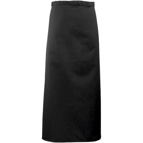 Premier Long Bar Apron / Workwear (Pack of 2) (One Size) (Black)