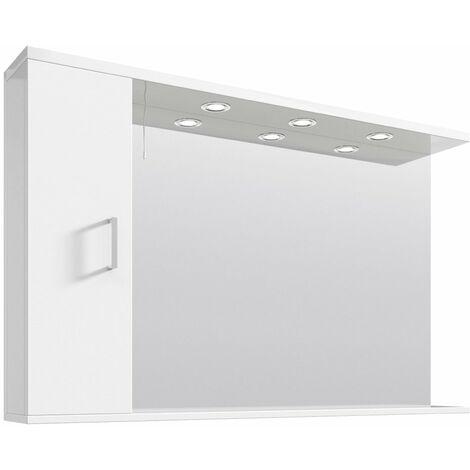 Floe 1200mm Gloss White Mirror