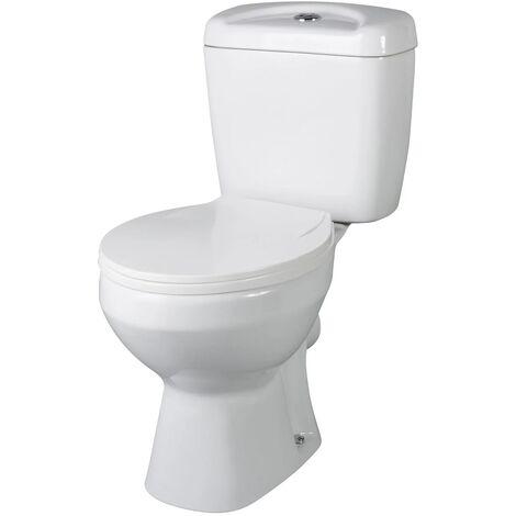 Premier Melbourne Close Coupled Toilet with Push Button Cistern - Standard Seat