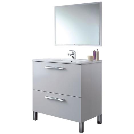 PREMIER Mueble lavabo 1p abat.+1c + espejo + Grifería Incluida con latiguillos