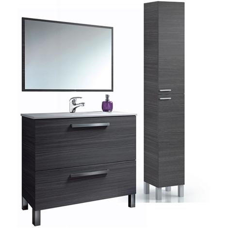 PREMIER Mueble lavabo 1puerta abat.+1 cajon + Espejo + COLUMNA (Grifería Incluida)