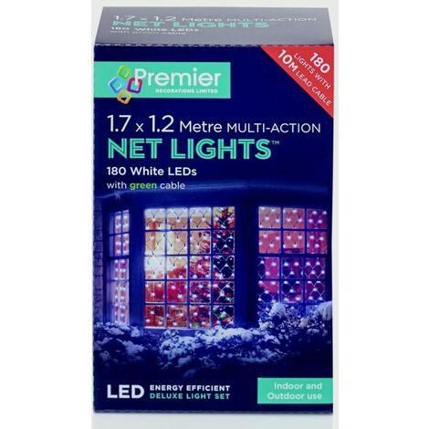 """main image of """"Premier Multi-Action LED Net Lights 360 LED 3.5 x 1.2m White - LV122742W"""""""