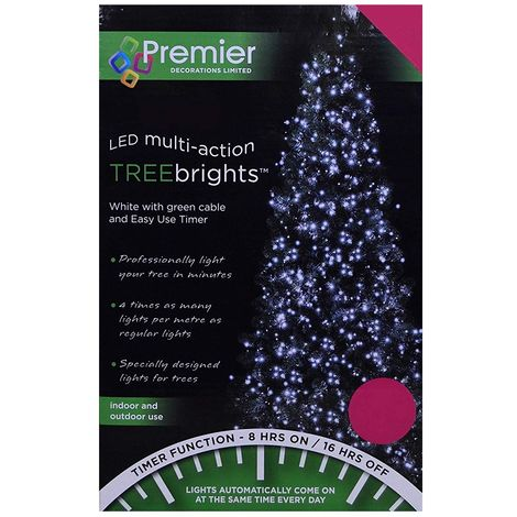 """main image of """"Premier Multi Action TreeBrights - Cluster Tree Lights - 2000 LED - White"""""""