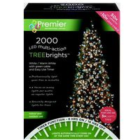 Premier Multi Action TreeBrights - Cluster Tree Lights - 2000 LED - White & WW