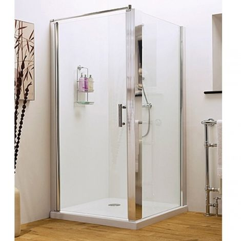 Premier Pacific 900 X 760 Hinged Door Shower Enclosure With Tray