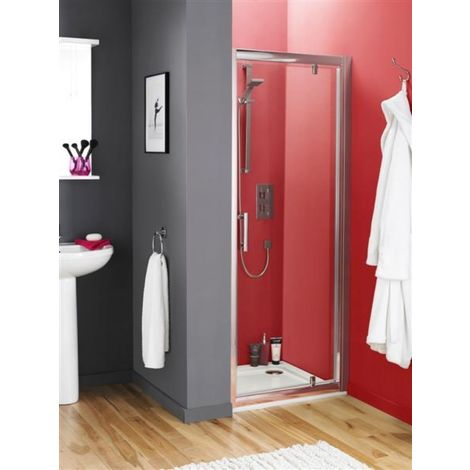 Premier Pacific 900mm Pivot Shower Door With Tray