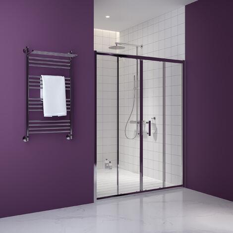 Premier Pacific Double Sliding Shower Door 1500mm Wide - 6mm Glass