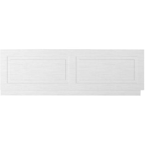 Premier Porcelain White Ash York 1700mm Bath Front Panel