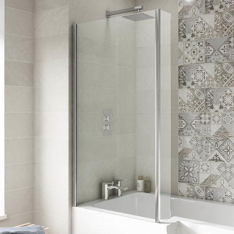 Premier Quattro 1400mm Square Bath Shower Screen