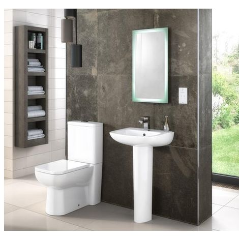 Premier Renoir Compact Close Coupled Toilet Pan With Cistern And Seat