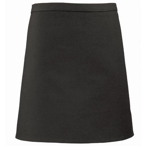 Premier Short Bar Apron / Workwear (Pack of 2) (One Size) (Black)