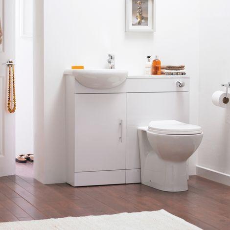 Premier Sienna Toilet And Basin Unit High Gloss White